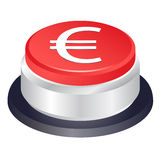 Euro stop vector button Stock Photos