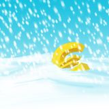 Euro in the storm Stock Image