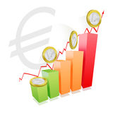 Euro strength. Concept representing the strength of euro money Royalty Free Stock Images
