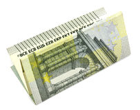 5 euro su un fondo bianco Fotografie Stock Libere da Diritti