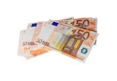 Euro su un fondo bianco Immagine Stock Libera da Diritti