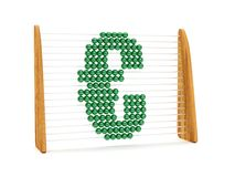 Euro symbol in an abacus Stock Photo
