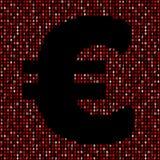 Euro symbol on red hex code illustration. Euro symbol on abstract shades of red hex code background illustration Stock Images
