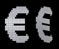 Euro symbol assembled of diamonds Stock Image