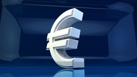 Euro symbol with blue background Royalty Free Stock Image