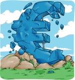 Euro symbol in crash for european Stock Photography