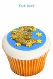 Euro symbol cupcake. Stock Images