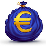 Euro Symbol Currency Bag Stock Images