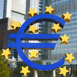 Euro Symbol at the ECB in Frankfurt. Close-up of Euro Symbol at the European Central Bank (ECB) in Frankfurt, Germany Stock Images