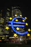 Euro Symbol at the ECB in Frankfurt Stock Photography