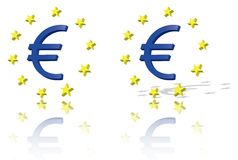Euro symbol, European Union unit of currency Royalty Free Stock Photography