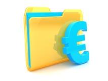 Euro symbol folder Royalty Free Stock Photography