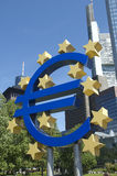Euro symbol frankfurt germany Stock Photography