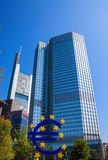 Euro Symbol In Frankfurt Am Main Stock Photos