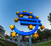 Euro Symbol in Frankfurt am Main Royalty Free Stock Images