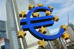 Euro symbol - Frankfurt, Niemcy Obrazy Stock