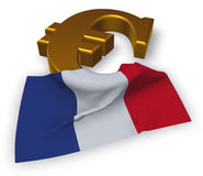 Euro symbol and french flag Royalty Free Stock Images