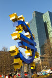 Euro symbol in front of the European Central Bank Stock Images