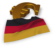 Euro symbol and german flag. 3d illustration Stock Photo