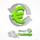 Euro symbol in green Royalty Free Stock Photos