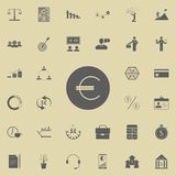 Euro symbol icon. Detailed set of Finance icons. Premium quality graphic design sign. One of the collection icons for websites, we. B design, mobile app on Stock Photography