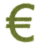 Euro symbol made from grass Royalty Free Stock Image