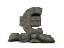 Euro symbol rock Stock Photos
