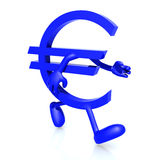 Euro symbol running Stock Photos