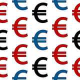 Euro symbol seamless pattern Stock Photo