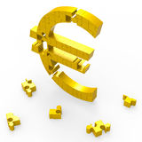 Euro Symbol Shows Currency Exchange Royalty Free Stock Photography