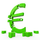 Euro Symbol Shows Financing In Europe Royalty Free Stock Images