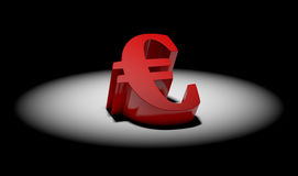 Euro symbol in spotlight Royalty Free Stock Images