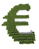 Euro symbol tree shapes Stock Photography