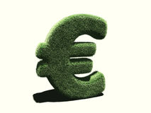 Euro symbol very grassy. It's a very grassy Euro symbol ! A picture to illustrate the ecological business concept vector illustration