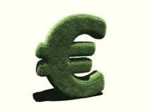 Euro symbol very grassy Stock Image