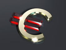Euro. Symbol written in gold Stock Photo