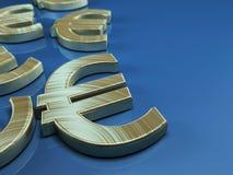 euro symbole ardent de série d'illustrations Photos libres de droits