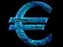 euro symbole ardent de série d'illustrations Image stock