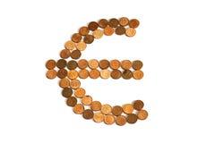 euro symbole ardent de série d'illustrations Image libre de droits