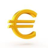 Euro symbole d'or Photo stock