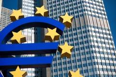 euro symbole de Francfort Allemagne Photographie stock