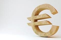 Euro symbole rocheux Photographie stock libre de droits