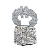 Euro symbole sur la roche Images libres de droits