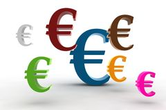 Euro symbols Royalty Free Stock Photography