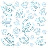 Euro symbols background Stock Image