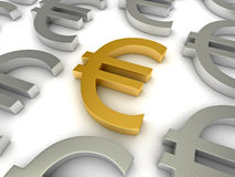 Euro symbols Royalty Free Stock Photos