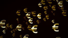 Euro Symbols Gold And Black Dolly stock footage