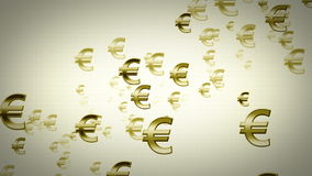 Euro Symbols Gold Dolly stock footage