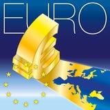 Euro symbols Stock Image