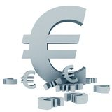 Euro symbols isolated Royalty Free Stock Photo
